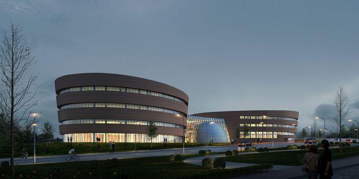 二星标准设计,施工,由文化馆,科技馆,剧场,球幕影院,入口门廊等组成.
